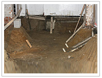 Underpinning of section 1 area Lowering Basement Toronto GTA